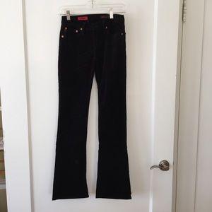AG Black Corduroy Pants